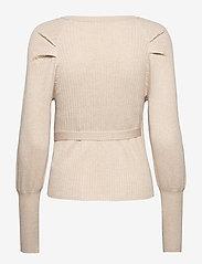 Soft Rebels - SRMarla LS Wrap Around Knit - cardigans - whitecap gray - 2