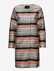 Soft Rebels - Cami Long Jacket - dunne jassen - 967 cami print - 0