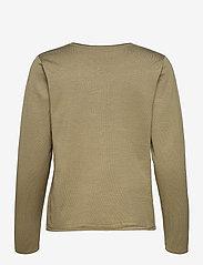 Soft Rebels - SRMarla O-neck Knit Roll Edge - sweaters - covert green - 1