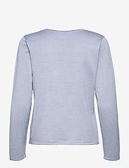 Soft Rebels - SRMarla O-neck Knit Roll Edge - sweaters - zen blue - 1