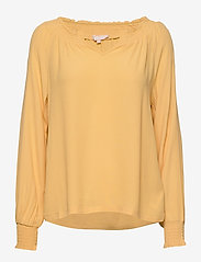 Soft Rebels - Move LS Top - long sleeved blouses - ochre - 0