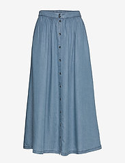 Soft Rebels - Moira Midi Skirt - denimnederdele - dark blue - 0
