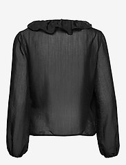 Soft Rebels - Ava LS Top - long sleeved blouses - black - 1