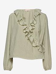 Soft Rebels - Ava LS Top - blouses med lange mouwen - tea - 0