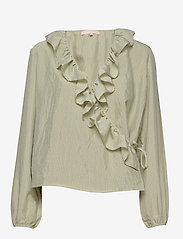 Soft Rebels - Ava LS Top - long sleeved blouses - tea - 0