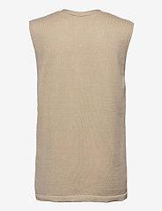 Soft Rebels - SRLisa V-neck Vest Cardigan Knit - knitted vests - white pepper - 1