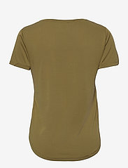 Soft Rebels - SRElla V-neck T-shirt - t-shirts - olive drab - 1
