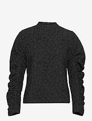 Soft Rebels - SRJasmina LS Top - long sleeved blouses - black - 0