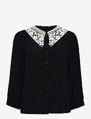 Soft Rebels - SRJudith 3/4 Shirt - long sleeved blouses - black - 0