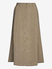Soft Rebels - SRFrancine Midi Skirt - midi skirts - covert green - 0