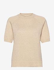 SRMarla SS O-Neck Knit - WHITECAP GRAY