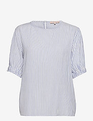 Soft Rebels - SRAllysia SS Top - short-sleeved blouses - provence - 0
