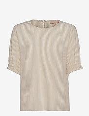 Soft Rebels - SRAllysia SS Top - short-sleeved blouses - white pepper - 0