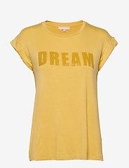 Soft Rebels - Dreamer T-shirt - t-shirts med tryk - rattan - 0
