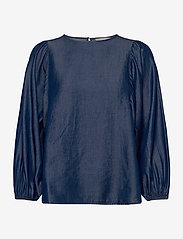Soft Rebels - Rue 3/4 Top - long sleeved blouses - rinse wash - 0