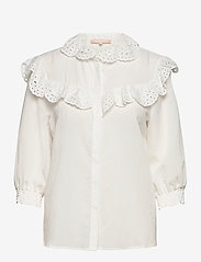 Soft Rebels - Nelly 3/4 shirt - long sleeved blouses - snow white / off white - 0