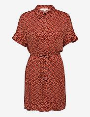 SRLeah Shirt Dress - BLUR FLOWER ROOIBOS