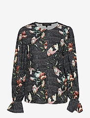 Soft Rebels - Mui Blouse - long sleeved blouses - 791 mui print - 0