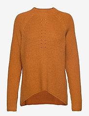 Soft Rebels - Mille T-neck Knit - jumpers - inca gold - 0