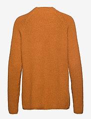 Soft Rebels - Mille T-neck Knit - jumpers - inca gold - 1