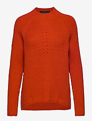 Soft Rebels - Mille T-neck Knit - jumpers - rooibos tea - 0
