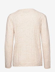 Soft Rebels - Claire O-neck Knit - jumpers - bleached sand - 1