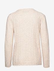 Soft Rebels - Claire O-neck Knit - trøjer - bleached sand - 1