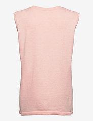 Soft Rebels - SRMarla V-neck Loose Fit Knit Vest - knitted vests - sepia rose - 2