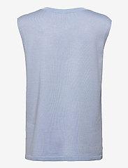 Soft Rebels - Marla V-neck Loose Fit Knit Vest - knitted vests - zen blue - 1