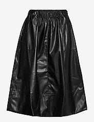 Alba Midi Skirt - BLACK