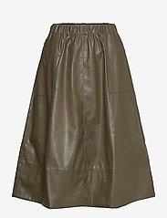 Soft Rebels - Alba Midi Skirt - midi skirts - dark olive - 0