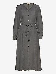 Soft Rebels - Aura Midi Dress - summer dresses - asphalt - 0