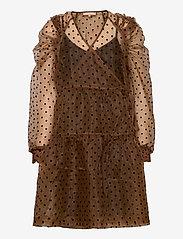 Soft Rebels - Tula Midi Wrap Dress - wrap dresses - iced coffee - 1