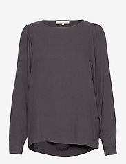 Soft Rebels - Bianca LS Top - long sleeved blouses - asphalt - 0