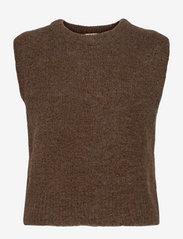 SRStinne Vest Knit - SHAVED CHOCOLATE