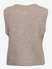 Soft Rebels - SRStinne Vest Knit - strikveste - silver cloud - 1