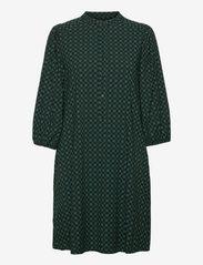 SREllie 3/4 Dress - MINI SQUARE BAYBERRY