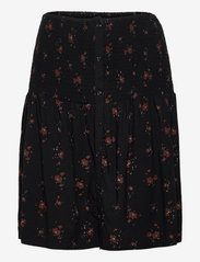 SREllie Skirt - FLOWER PRINT CHOCOLATE