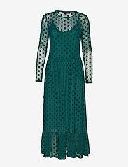 Soft Rebels - Smile LS Midi Dress - everyday dresses - evergreen - 0