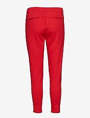 Soft Rebels - Freya Stripe Pant 7/8 - straight leg trousers - 350 spizy red - 1