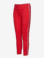 Soft Rebels - Freya Stripe Pant 7/8 - straight leg trousers - 350 spizy red - 2