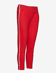 Soft Rebels - Freya Stripe Pant 7/8 - straight leg trousers - 350 spizy red - 3