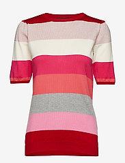 Soft Rebels - Charlie Blouse - short-sleeved blouses - 350 spizy red - 0