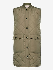 Soft Rebels - SREileen Quilt Vest - puffer vests - covert green - 0