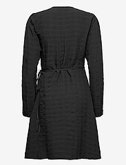 Soft Rebels - SRJeanie LS Wrap Dress - everyday dresses - black - 1