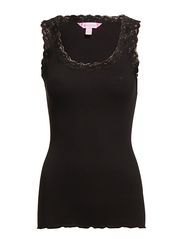 Silk Rib Camisole - 001 BLACK