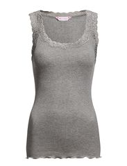 Silk Rib Camisole - 003 LIGHT GREY