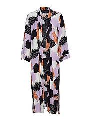 Touch Long Kimono - TOUCH PRINT LAVENDULA