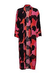 Touch Long Kimono - TOUCH PRINT POPPY RED