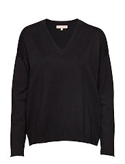 Zara V-neck Knit - BLACK